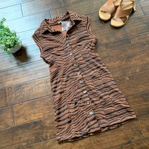 Free People Tiger Animal Print  Mini Dress